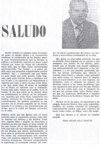 Saludo de Juan Belén Cela Martin